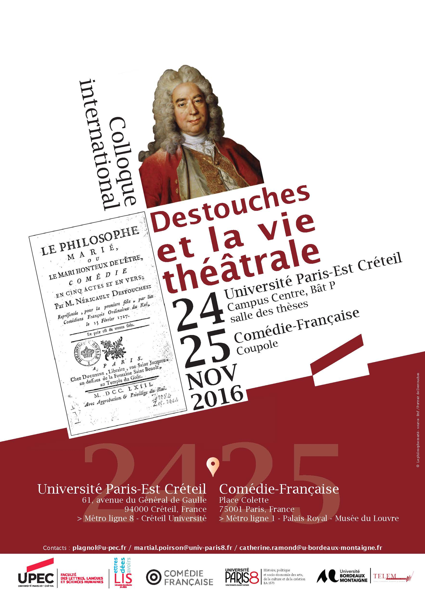 Affiche colloque Destouches